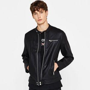 Bershka Faux Leather Jacket